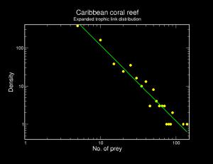 Species-level trophic link distribution.